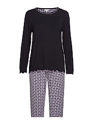Bamboo Long Sleeve Pyjamas - BLACK