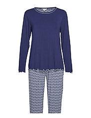 Bamboo Long Sleeve Pyjamas - NAVY