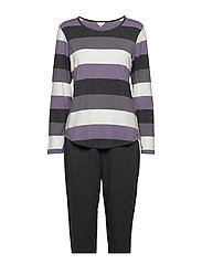 Bamboo Long Sleeve Pyjamas - PURPLE-TORNADO