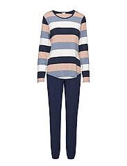 Bamboo Long Sleeve Pyjamas - TUSCANA-BLUE