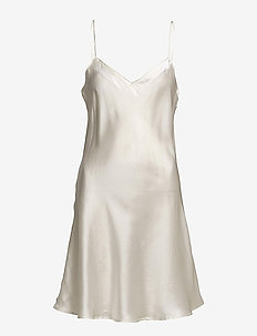 Pure Silk - Slip w.cording - OFF-WHITE