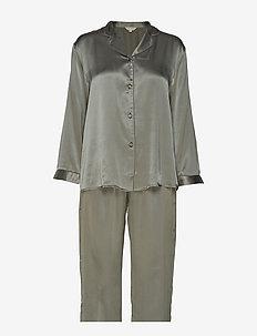Pure Silk - Basic Pyjamas - OLIVE