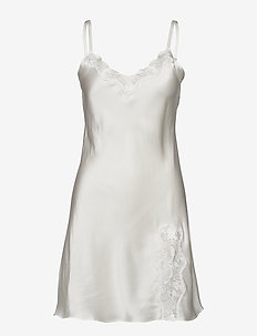 Slip with lace - OFF-WHITE