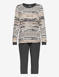 Soft Bamboo - Long Pyjamas - pyjamas - camel stripe
