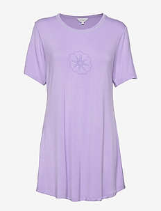 Bamboo Short-sleeve Nightdress - t-shirts - lavender
