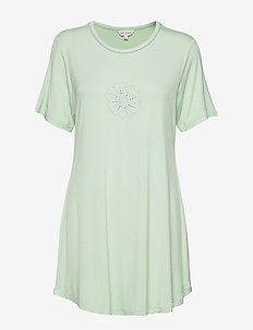 Bamboo Short-sleeve Nightdress - t-shirts - mint