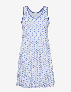 Bamboo Sleeveless Nightdress - FLORAL BLUE