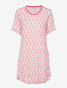 Bamboo Short-sleeve Nightdress - FLORAL ROSE