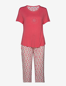 Bamboo Short-sleeve PJ with pirate - pyjamat - floral rose