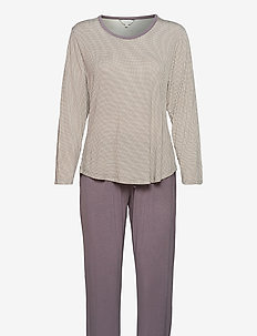 Bamboo Long-sleeve Pyjamas - pyjama''s - mocca pepita