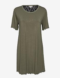 Bamboo Short Sleeve Nightdress - OLIVE