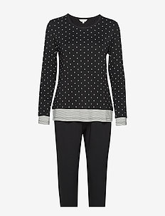 Bamboo Long Sleeve Pyjamas - BLACK/WHITE DOTS