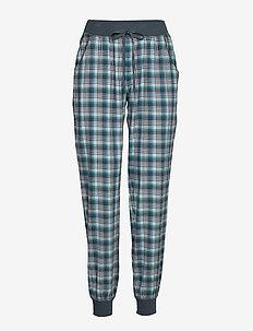 Cotton Flannel Pant - bas - petrol checks