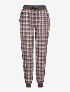 Cotton Flannel Pant - bas - wine checks