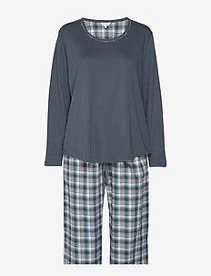 Cotton Flannel Pyjamas - PETROL CHECKS