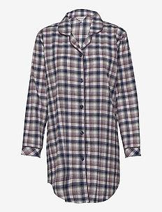 Cotton Flannel Nightshirt - pyjamas - blue/deer