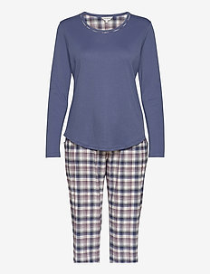 Cotton Flannel Pyjamas - pyjamas - blue/deer