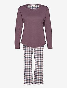 Cotton Flannel Pyjamas - pyjamas - deer/blue