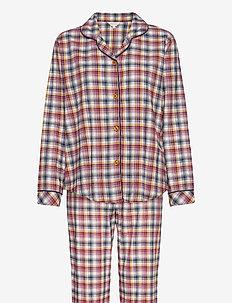 Cotton Flannel Pyjamas - pyjamas - indigo/amber