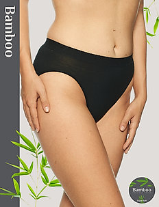 Basic Bamboo Tai brief - slips - black