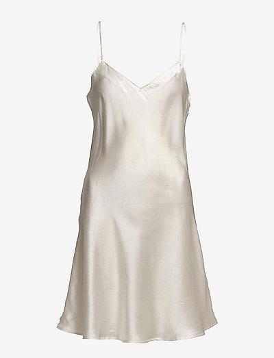 Pure Silk - Slip w.cording - nachtjurken - off-white