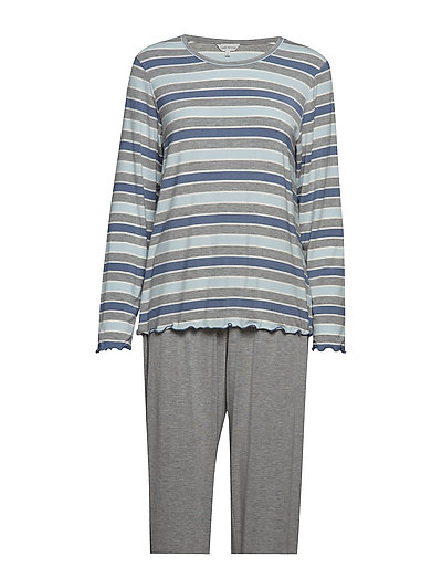 Bamboo Long Sleeve Pyjamas - BLUE STRIPE