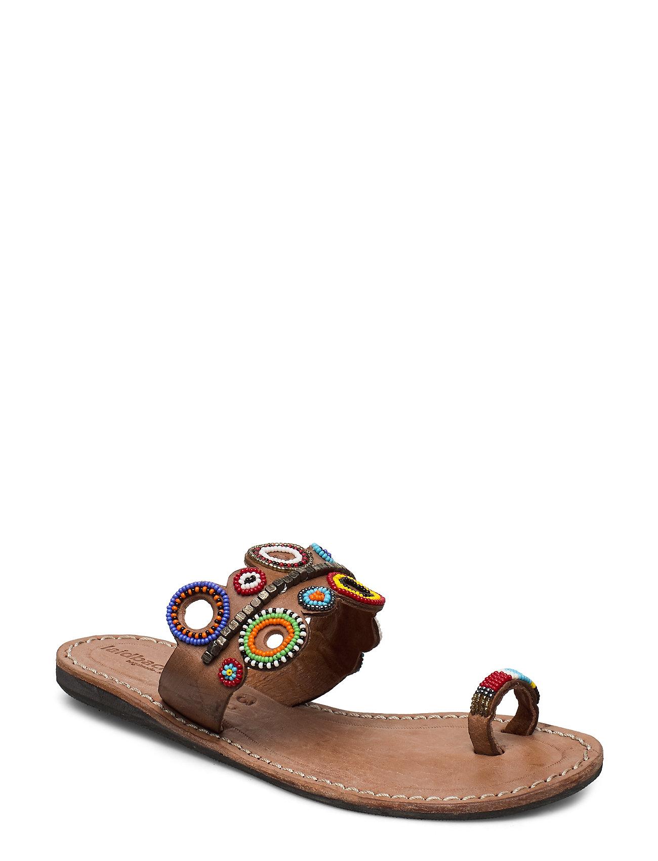 Image of Cloud Flat Shoes Summer Shoes Flat Sandals Brun Laidback London (3455508013)