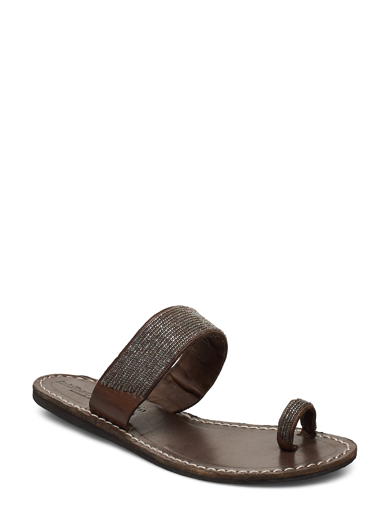 Image of Trent Flat Shoes Summer Shoes Flat Sandals Brun Laidback London (3455508015)