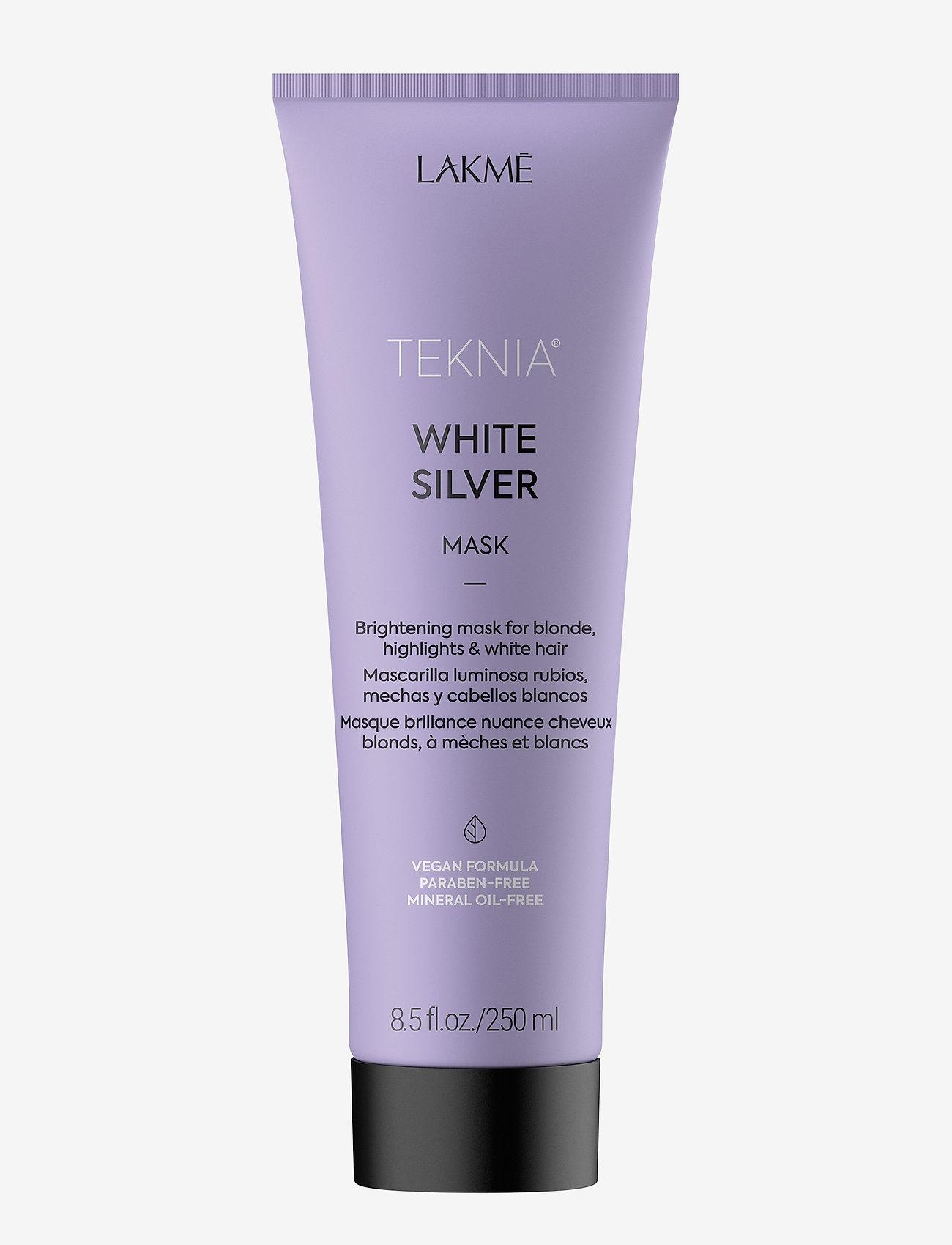 Lakmé - WHITE SILVER MASK 250 ML - hårmasker - clear - 0