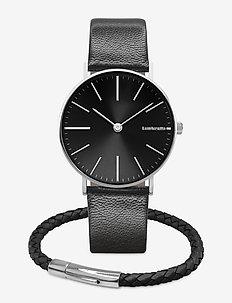 Cesare 42 Black Watch Jewelry Duo Kit - zegarki - black