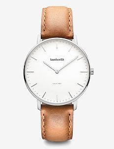 Classico 36 Leather Silver White Tan - klockor - white
