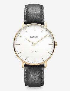 Classico 36 Leather Gold White Black - klockor - white