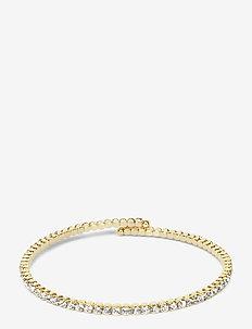 Crystal Bangle Gold 2mm - bangles - gold