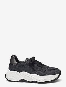 Sneakeras - chunky sneakers - nero/nero/gunmetal