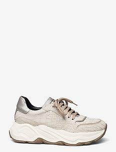 Sneakeras - chunky sneakers - panna/ avola/ argento