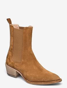 Ankle Boots - enkellaarsjes met hak - cuoio
