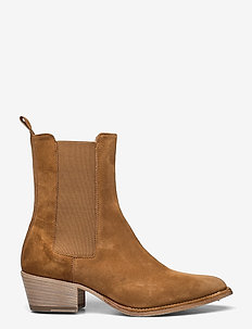 Ankle Boots - ankelboots med klack - cuoio