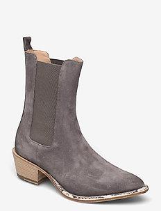 Ankle Boots - stiefeletten mit absatz - grey