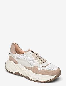 Sneakes - chunky sneaker - seppia/bianco/bianco