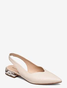 Flats - ballerinas - ecru/beige