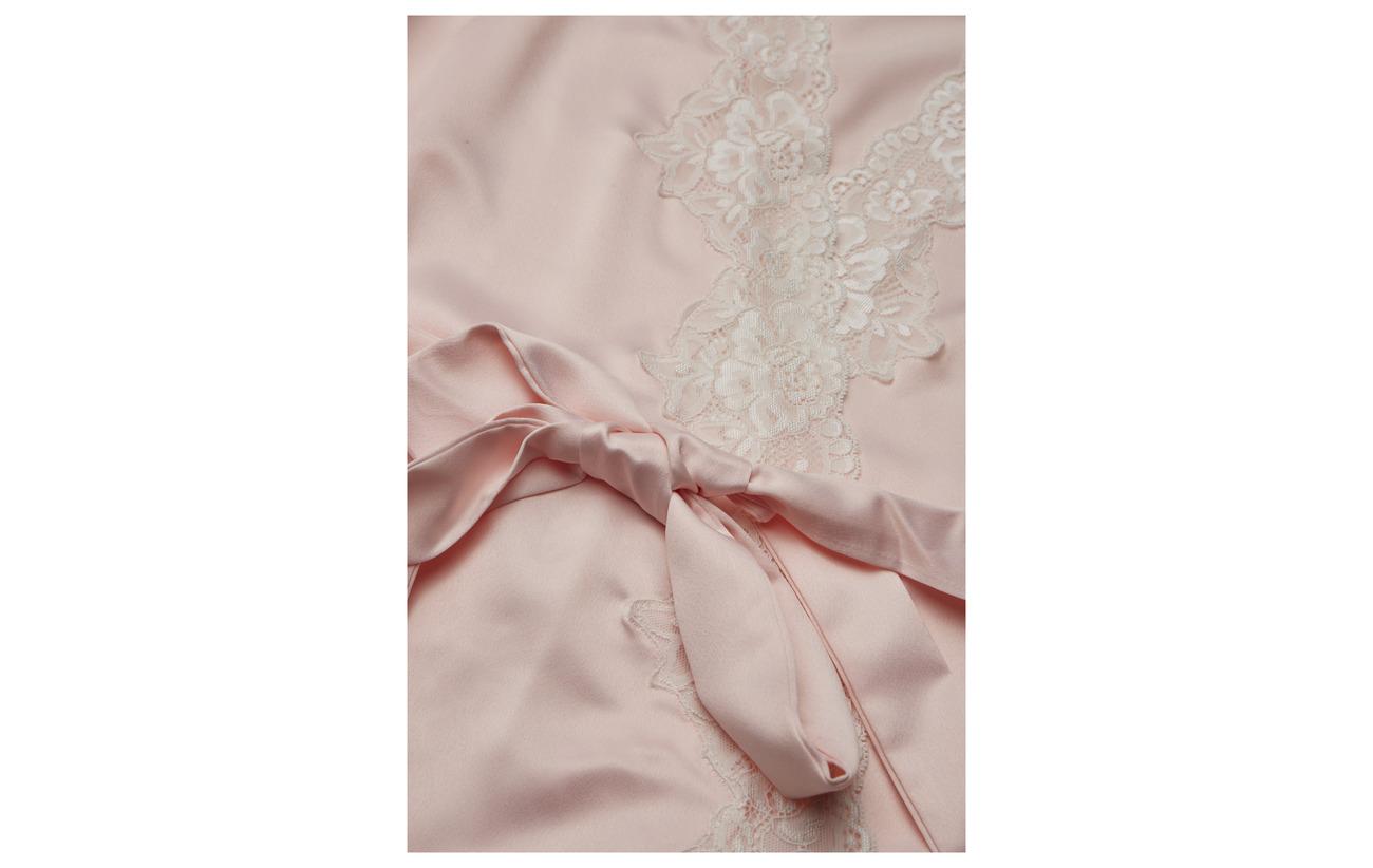 Satin 97 Lace Lrl Kimono Polyester Ralph Lauren Homewear Pink Signature Cm Robe 100 7Sfw0qgx