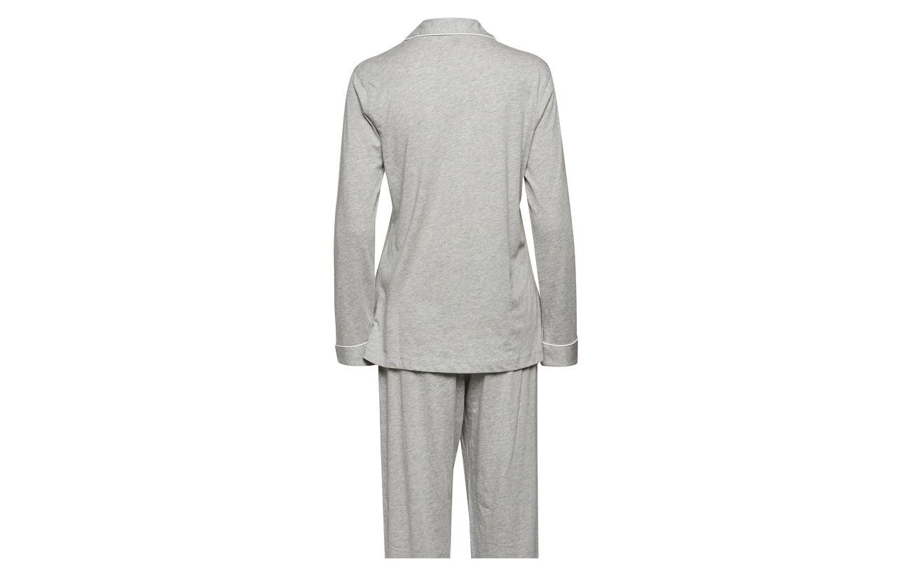 Set Modale Lauren Grey Heather Coton Homewear Collar Ralph Knit Lrl Jersey Hammond 60 Pj 40 OOq08rwx