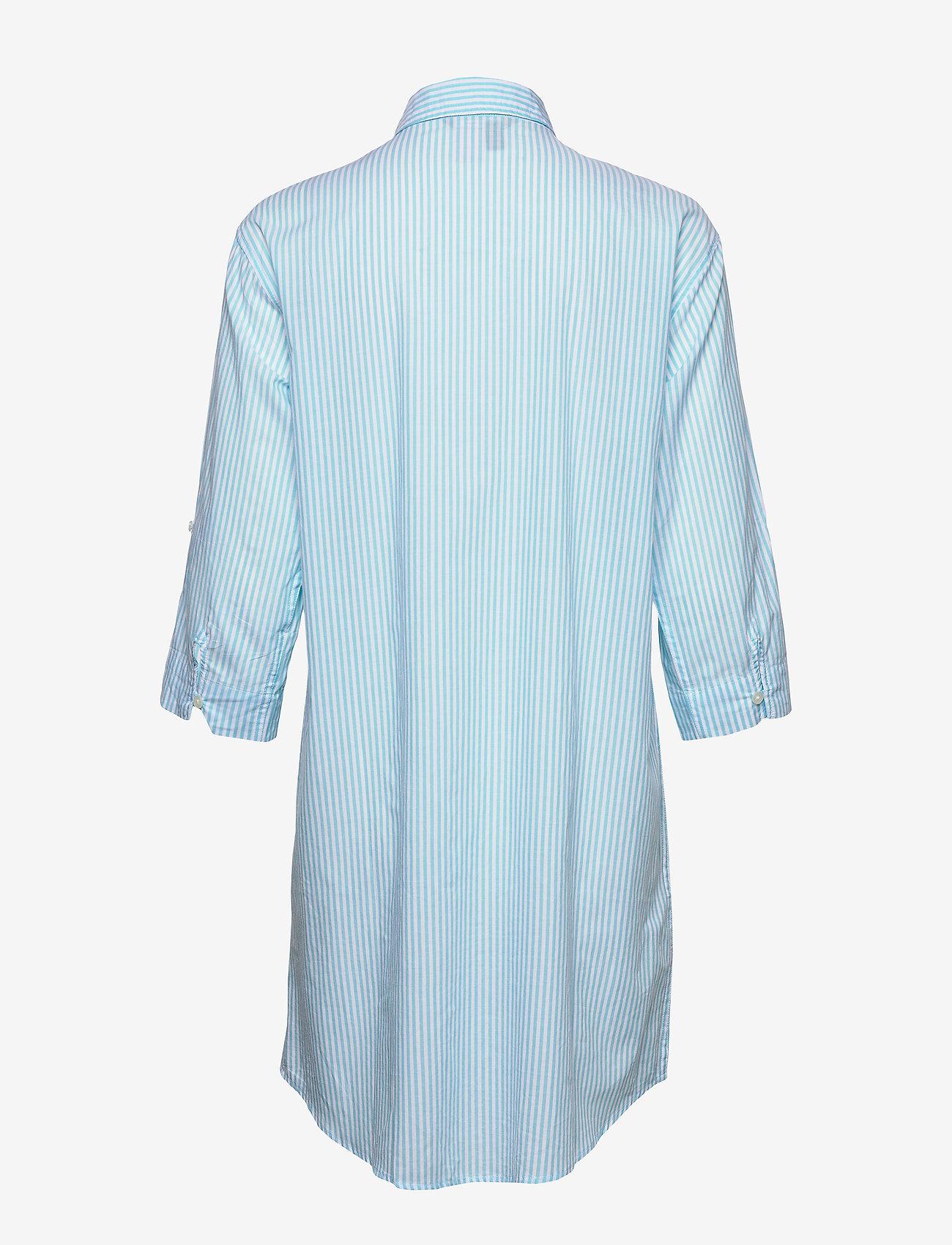 Lrl 3/4 Roll Sl. His Sleepshirt (Aqua Stripe) (699.30 kr) - Lauren Ralph Lauren Homewear UViJE0vD