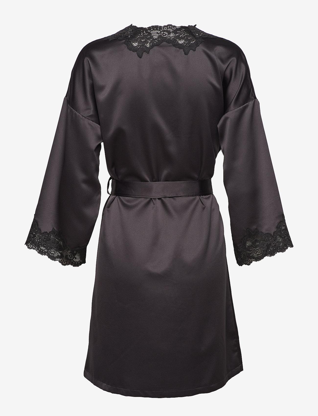 Lrl Signature Lace Kimono Robe 97 Cm Black 119 95 Lauren Ralph Lauren Homewear Boozt Com