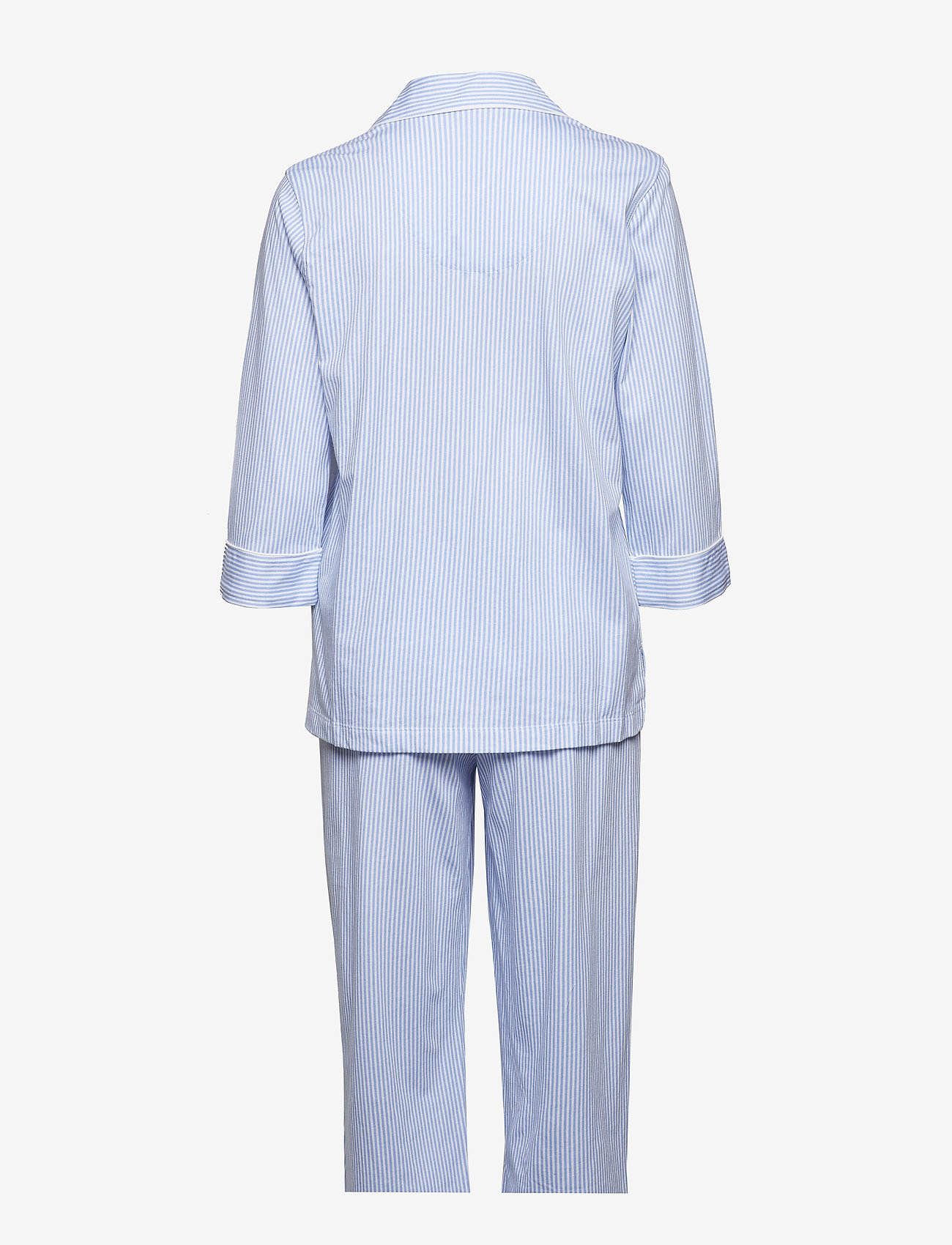 Lauren Ralph Lauren Homewear - LRL HERITAGE 3/4 SL CLASSIC NOTCH PJ SET - pyjama''s - french blue/white stripe - 1
