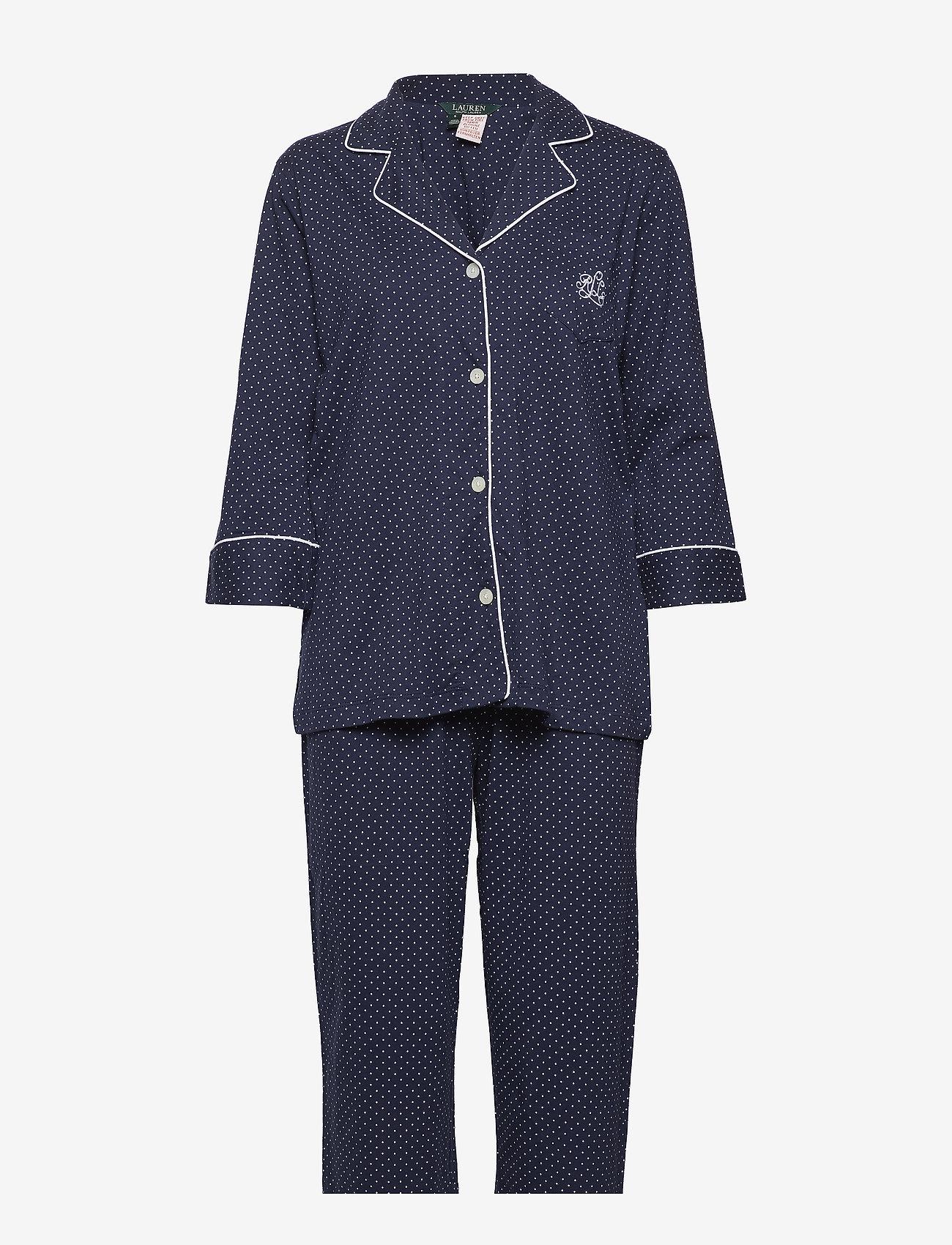 Lauren Ralph Lauren Homewear - LRL HERITAGE 3/4 SL CLASSIC NOTCH PJ SET - pyjama''s - windsor navy/white dot - 0