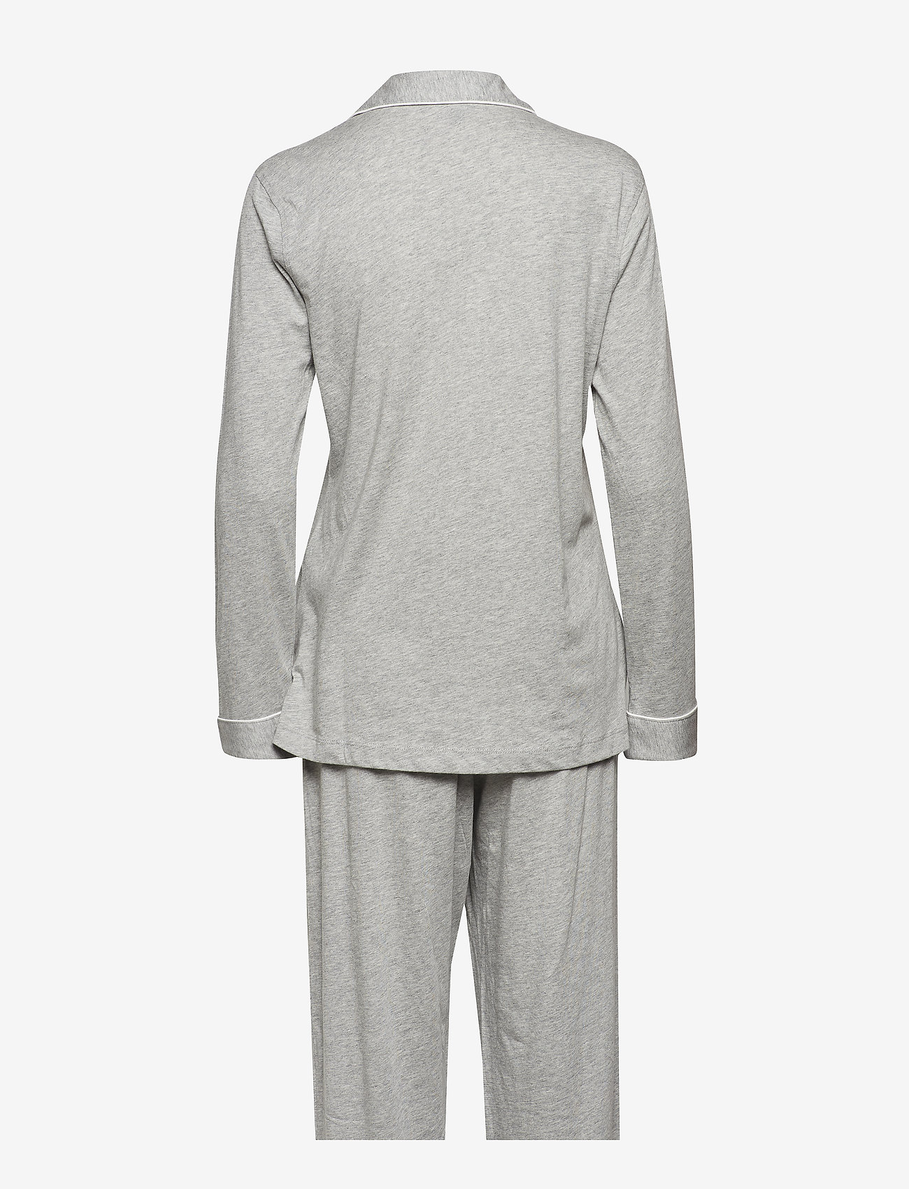Lauren Ralph Lauren Homewear - LRL HAMMOND KNIT COLLAR PJ SET - pyjama''s - grey heather - 1