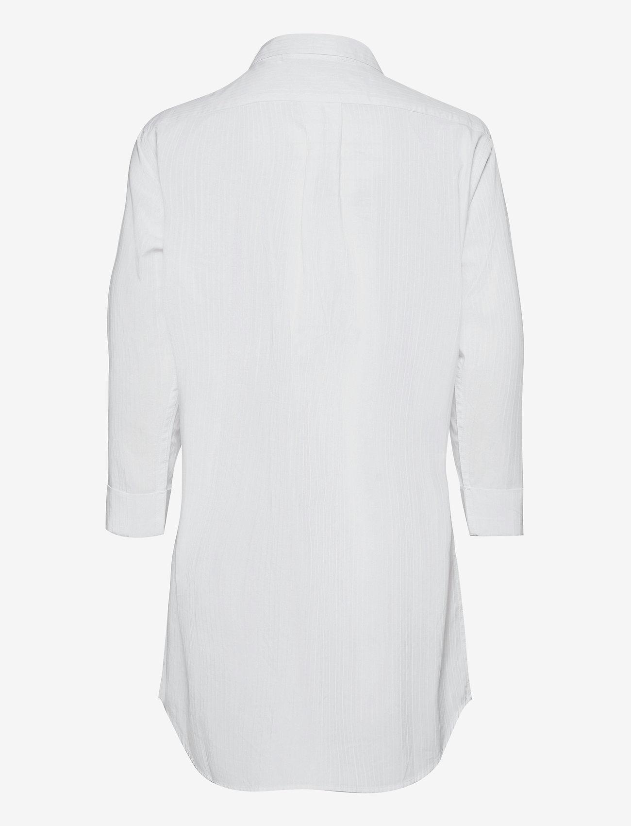 Lauren Ralph Lauren Homewear - LRL HERITAGE ESS. 3/4 SL SLEEPSHIRT - overdele - white - 1