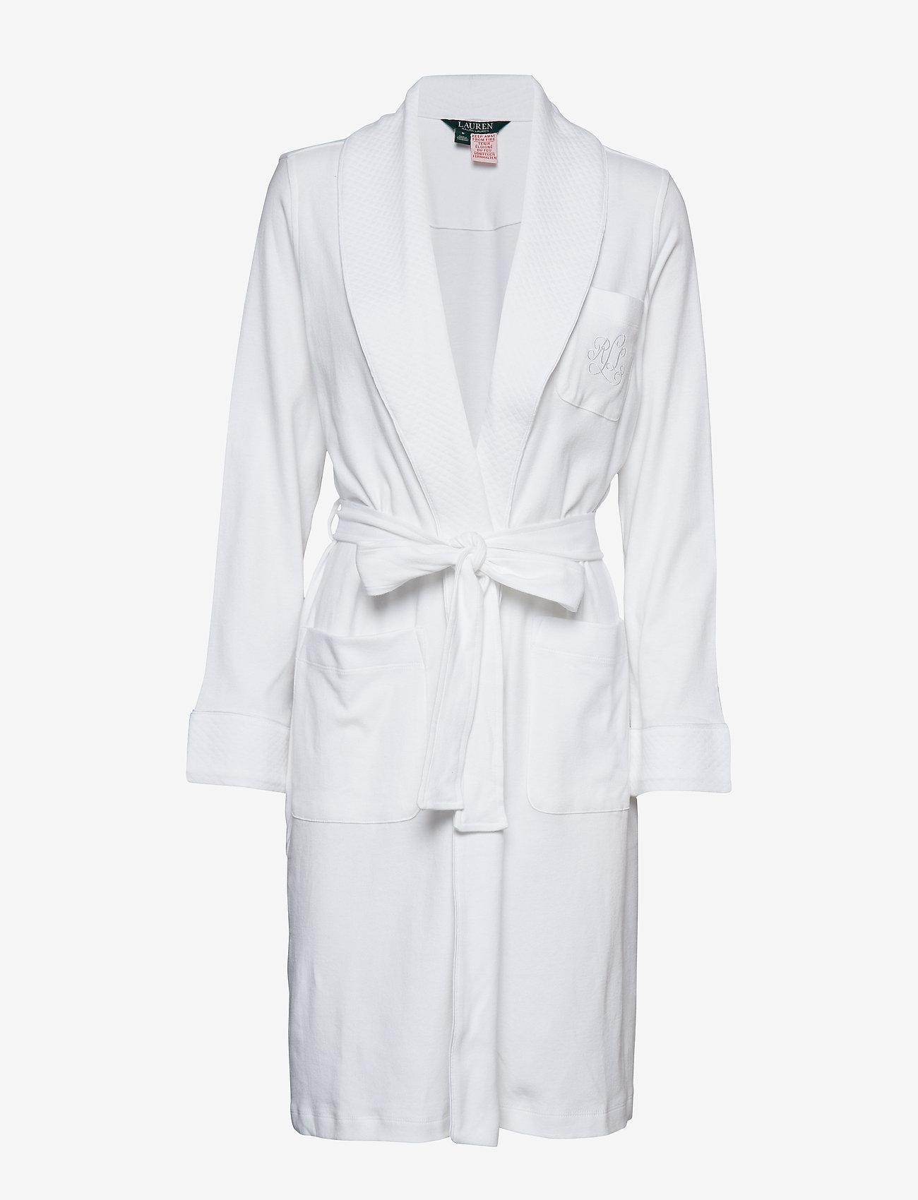 Lauren Ralph Lauren Homewear - LRL ESSENTIAL QUILTED COLLAR ROBE - badekåber - white - 0