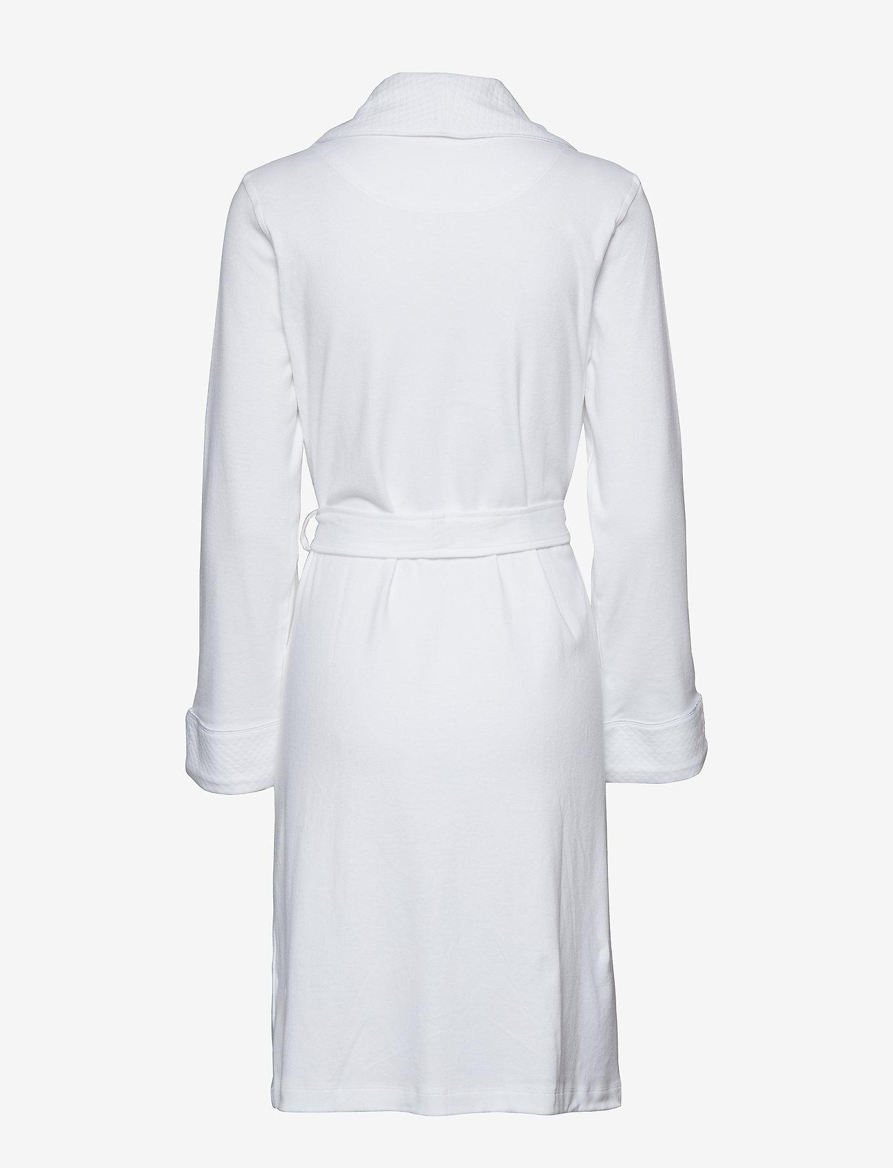 Lauren Ralph Lauren Homewear - LRL ESSENTIAL QUILTED COLLAR ROBE - badekåber - white - 1